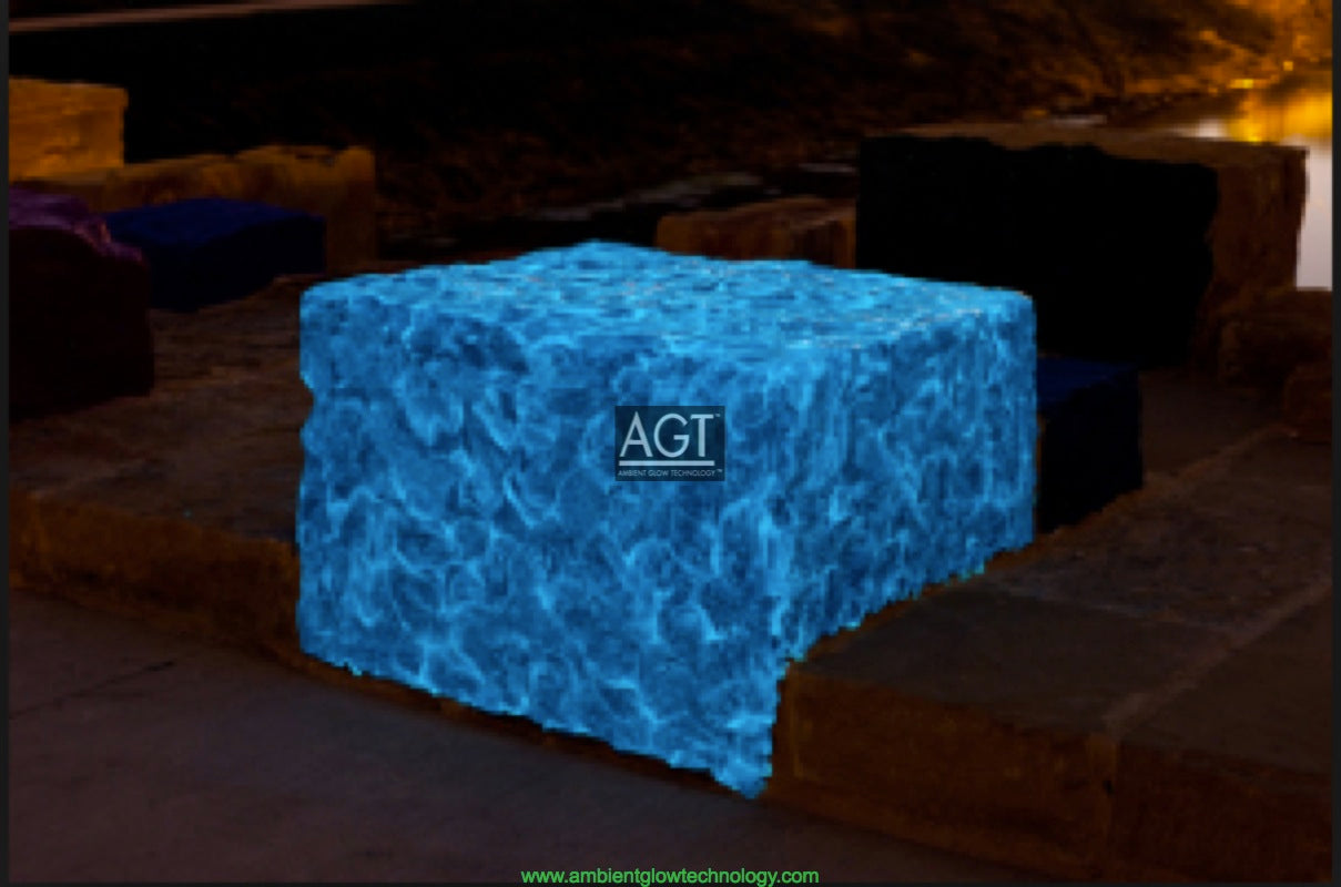 Glowing Cement Overlay 'BORG' Cube