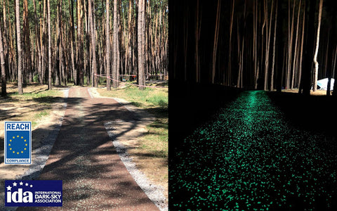 Glowing Nature Trail in the Ukraine - Powered By: AGT™ ULTRA Glow Stones