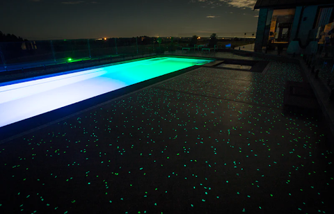 Glowing Pool Deck Powered by AGT™ Glow Stones