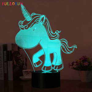 Lampe LED 3D // 5 V USB LED 7 Couleurs Tactile