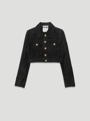 Nothing Special - Moschino 1990s Black Suede Boxy Jacket
