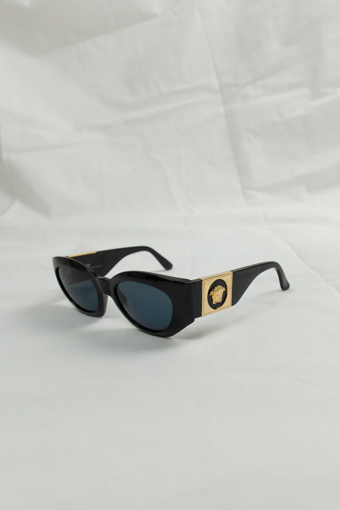 Gianni Versace – Black and Gold Medusa Sunglasses