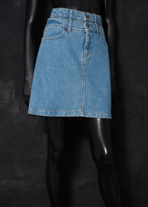 Fendi 1990s Double Denim Skirt