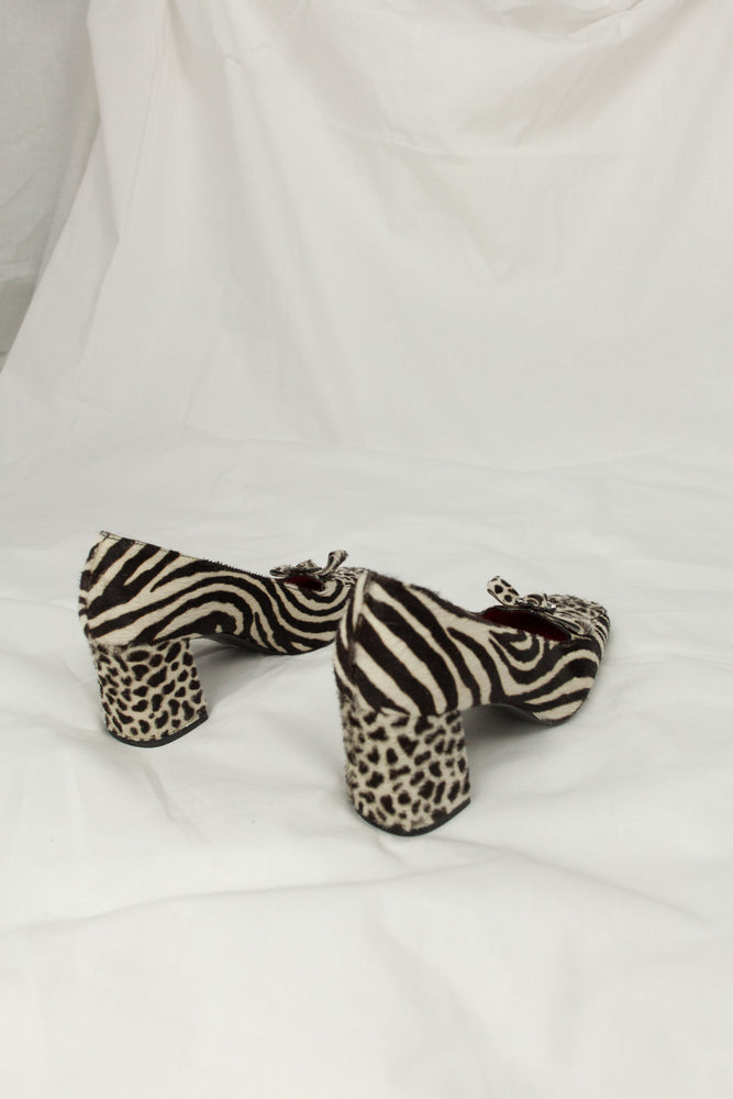 Moschino – Animal Pony Hair Heels / 35