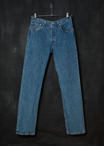 Levi's 501 Red Tab 1990s Stonewash Denim Jeans 32/34