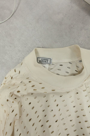 Vintage Perforated Long Sleeve T-Shirt