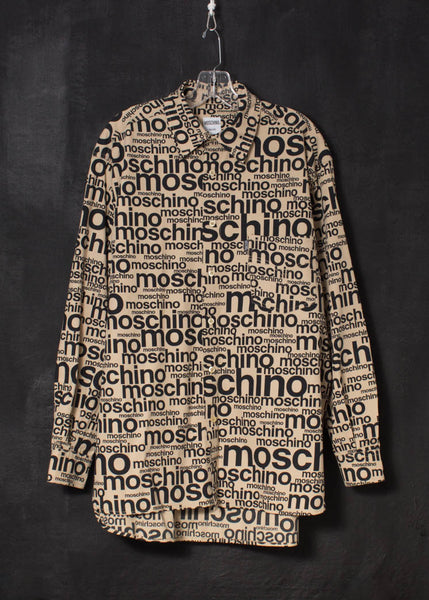 Moschino 1990s spell out logo shirt