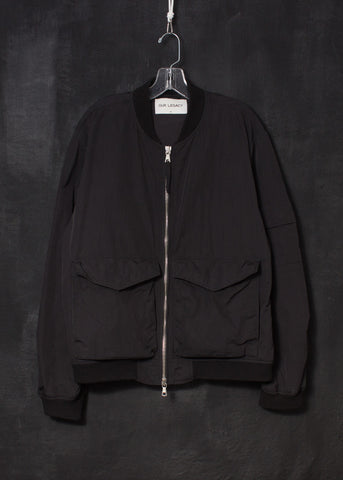 Our Legacy Archive Black Wave Bomber Jacket