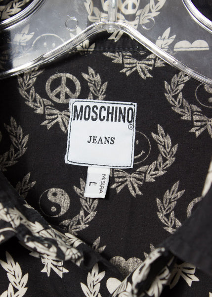 Moschino 1990s all-over print shirt