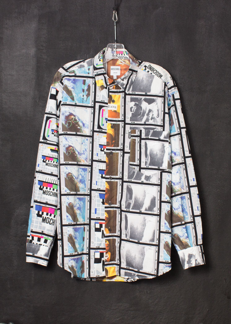 Moschino 1990s Moving Image Print Shirt