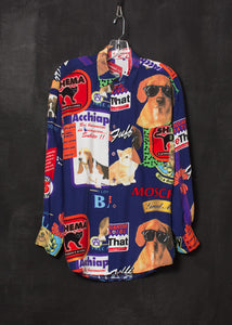 Moschino 1998 Cats and Dogs Print Shirt