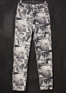 Moschino 1990s Franco Print Jeans