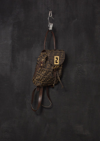Fendi 1990s Zucca Monogram Backpack