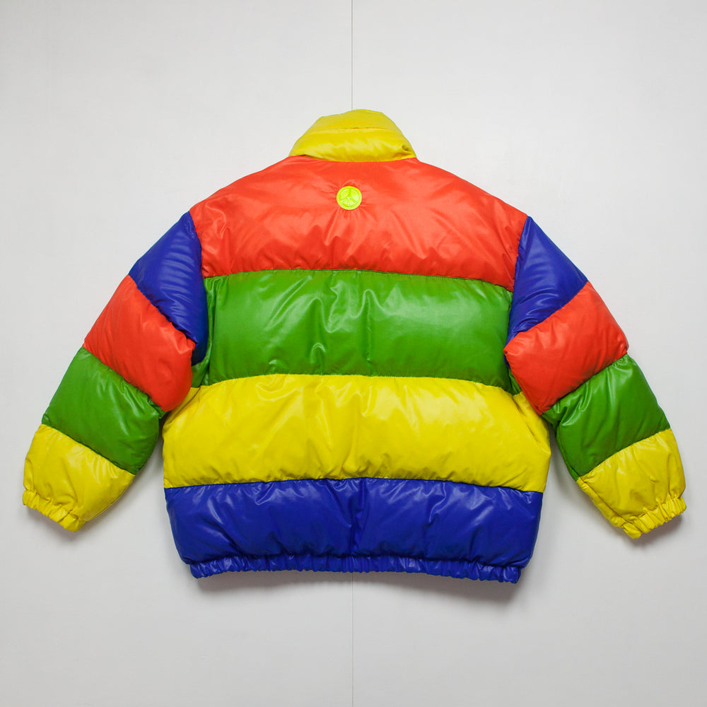 Moschino – 1990s Rainbow Goose Down Puffa Coat