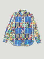 Vintage AW 1999 Cartoon Print Wool Shirt / M