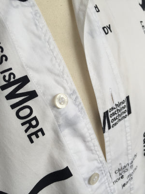 1990s Less Is More Shirt - NOTHING SPECIAL VINTAGE DESIGNER ARCHIVE