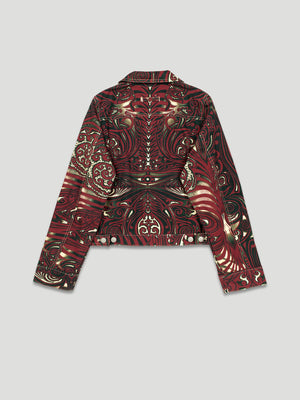 Jean Paul Gaultier SS 1996 Tribal Tattoo Print Jacket - back