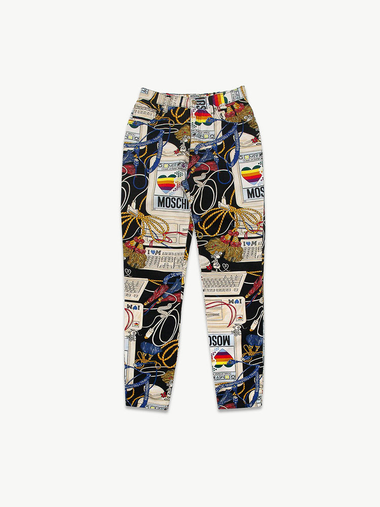 AW 1995 'Apple Computer' Print Jeans