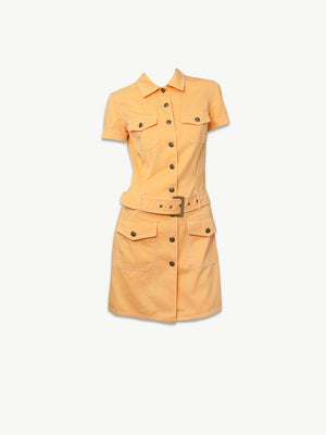 Vintage Moschino Orange Denim Dress