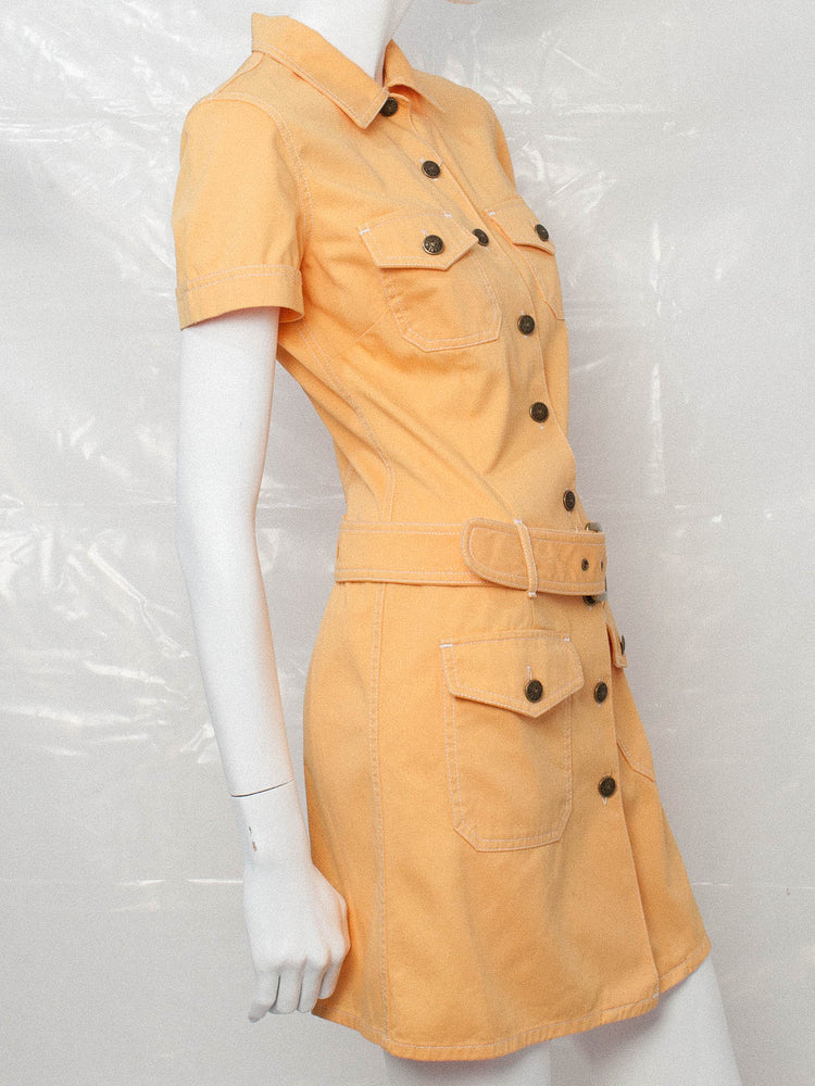 Vintage Moschino Pastel Orange Mini Dress
