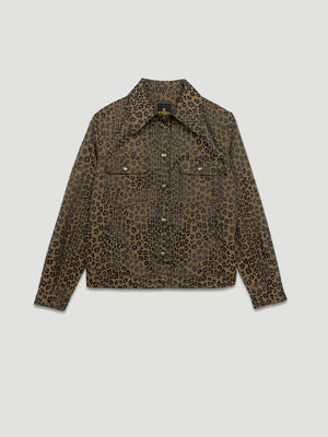 Nothing Special - Fendi 1990s Jaquard Leopard Nylon Fabric Jacket