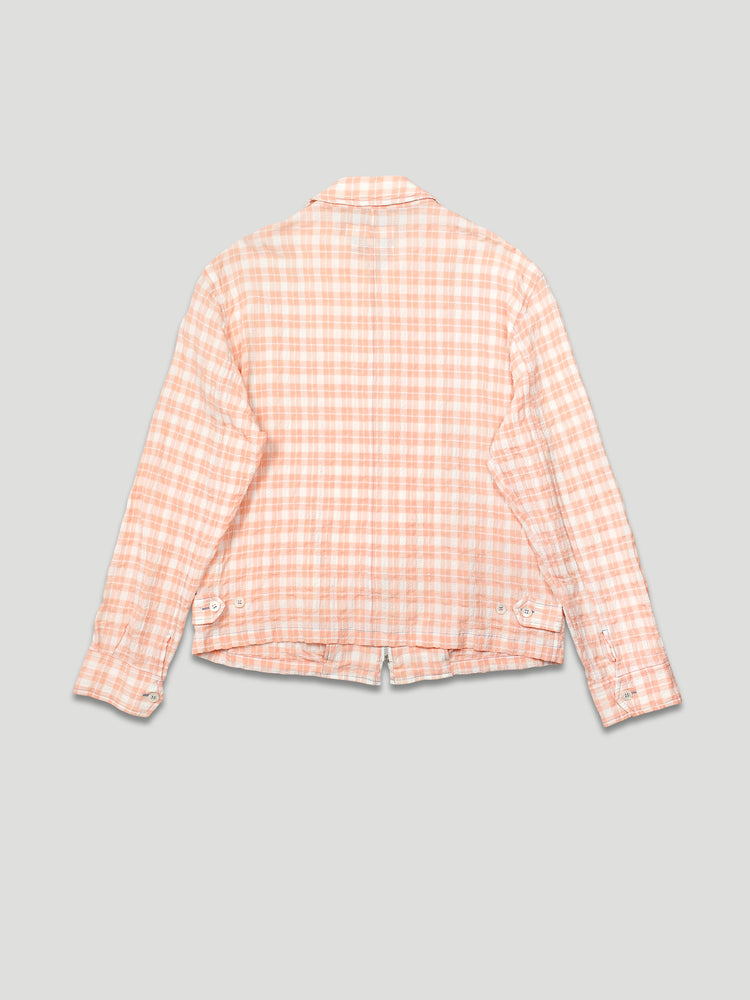 Vintage — Gingham Jacket in Salmon