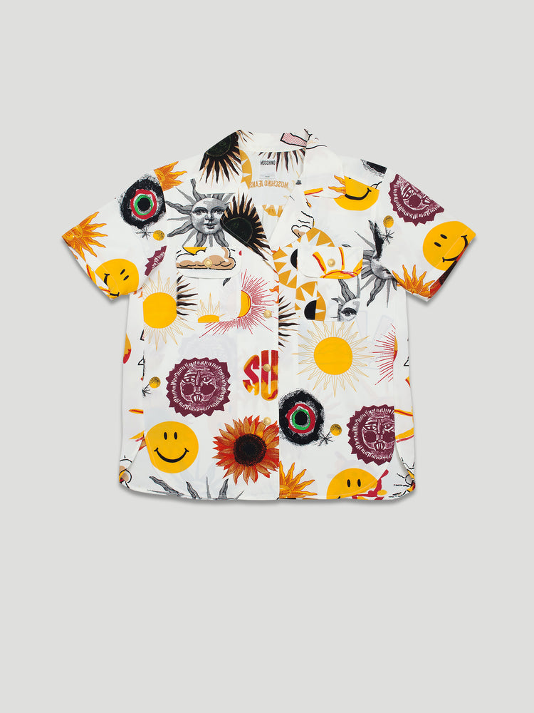 Vintage Shark Collar Rayon Sun Shirt