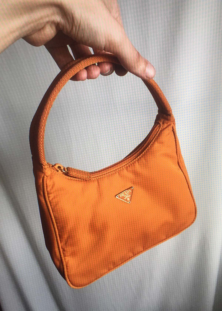 Vintage SS02 Orange Nylon Handbag
