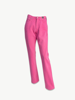 1990s Hot Pink Denim High Waist Jeans