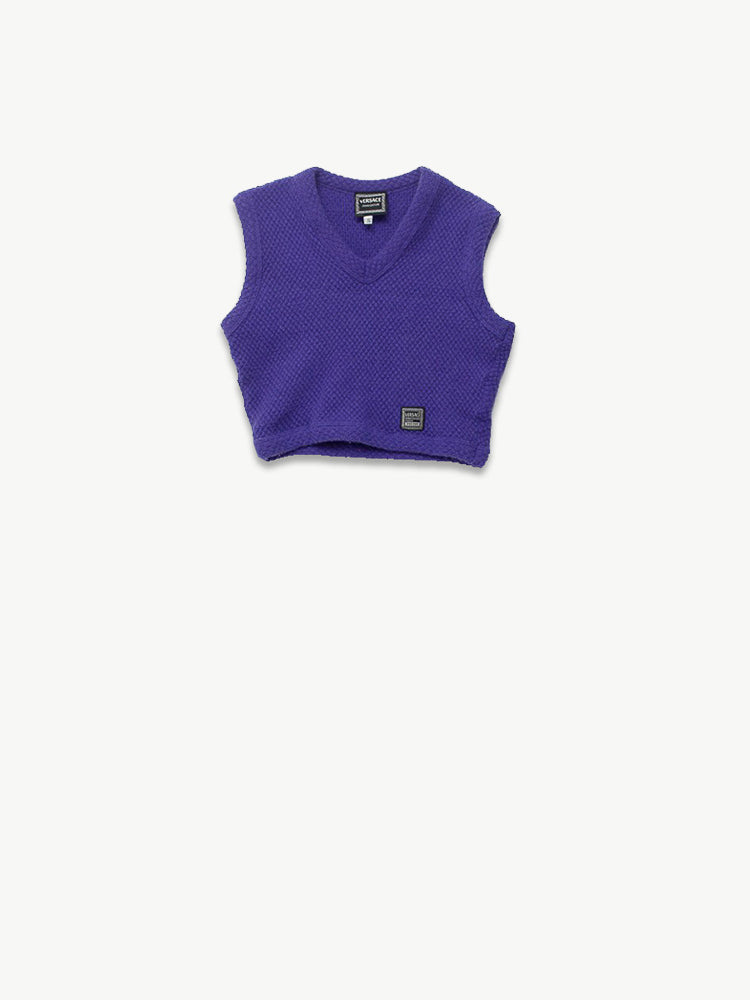 1990s Purple Wool Gillet