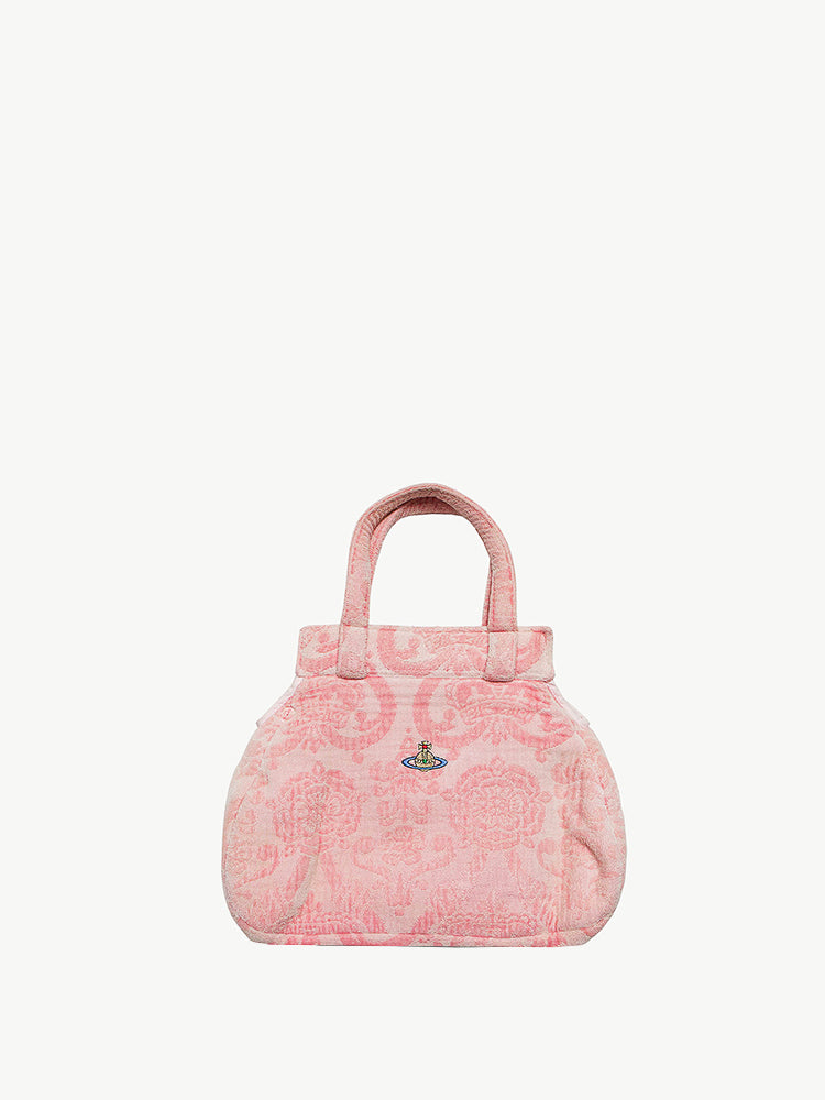 AW 1990-91 Pink Brocade 'Portrait Collection' Towel Bag