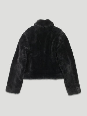 vintage 2000 versace jeans couture teddy fur jacket - back