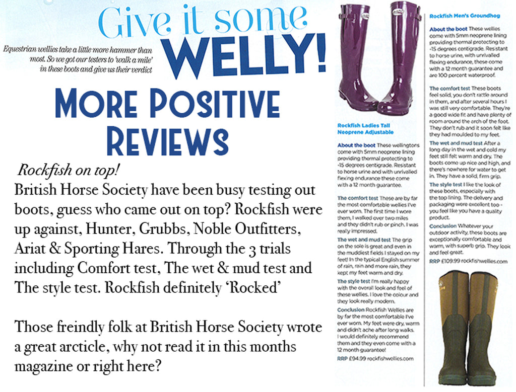 Rockfish Wellies and British Horse Society
