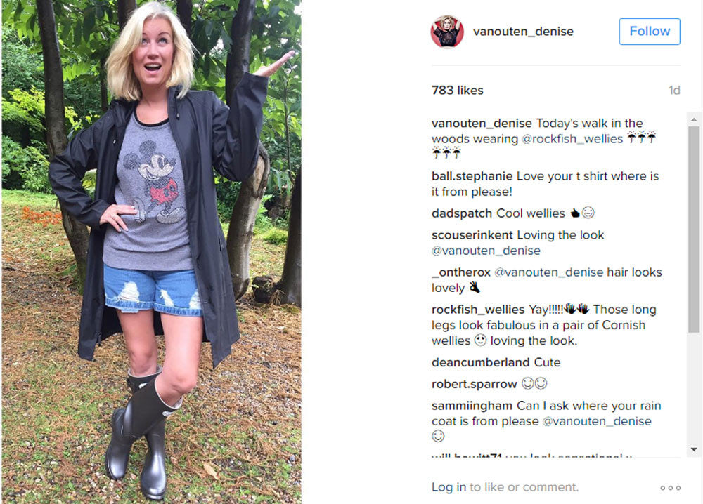 Another gorgeous celebrity wearing Rockfish Wellies