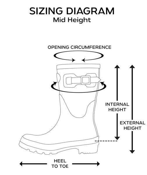 Rockfish Short Boot Sizing Guide