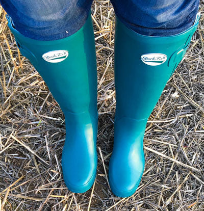 Rockfish Wide fit green wellies