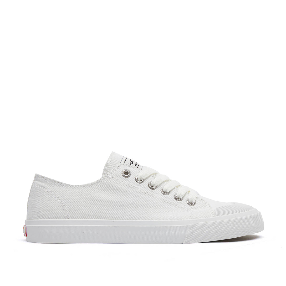White Canvas Lace Up Waterproof
