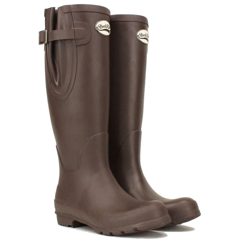 Dark Chocolate, Rockfish adjustable calf women's boots