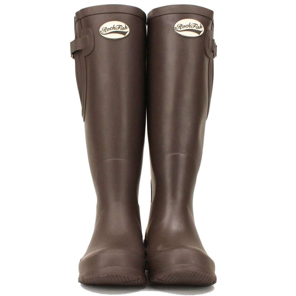 Brown wellies for women from Rockfish - Dark Chocolate
