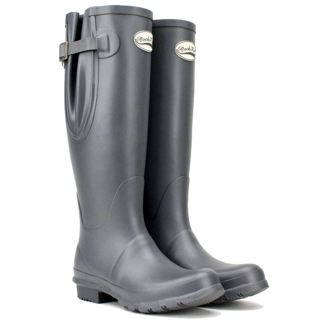Rockfishwellies.com:Rockfish Women's Tall Adjustable Earl Grey Wellington