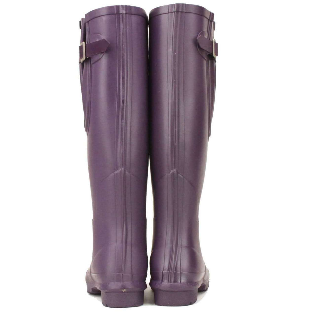 Rockfish Ladies adjustable Purple Wellington boots with a warm neoprene lining