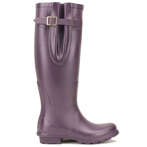 Rockfishwellies.com Rockfish Womens Tall Neoprene Matt Purple Grape Wellington