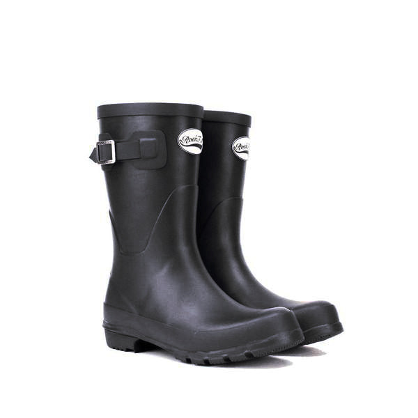 Rockfishwellies.com Women's Original Short Mid length Matt Black