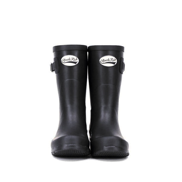 Short Black Rockfish Wellies Mid Length Womens Boot