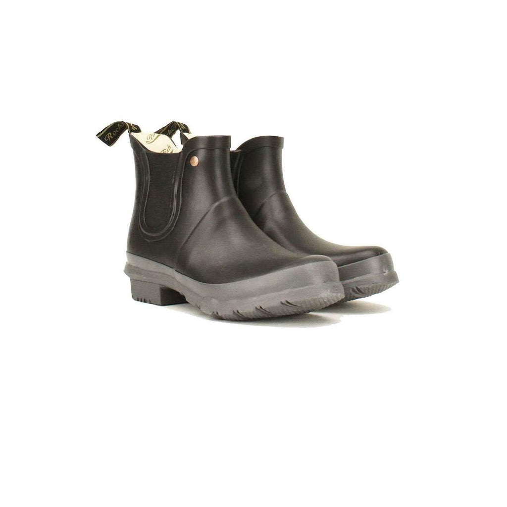Black Chelsea Boots with Earl Grey sole