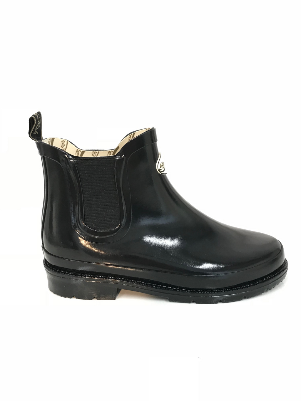Rockfish Women's Urban Chelsea Boot Gloss Black Wellington