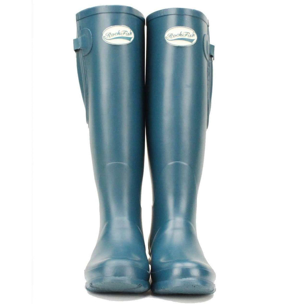Teal , green, blue women's adjustable Rockfish Wellies