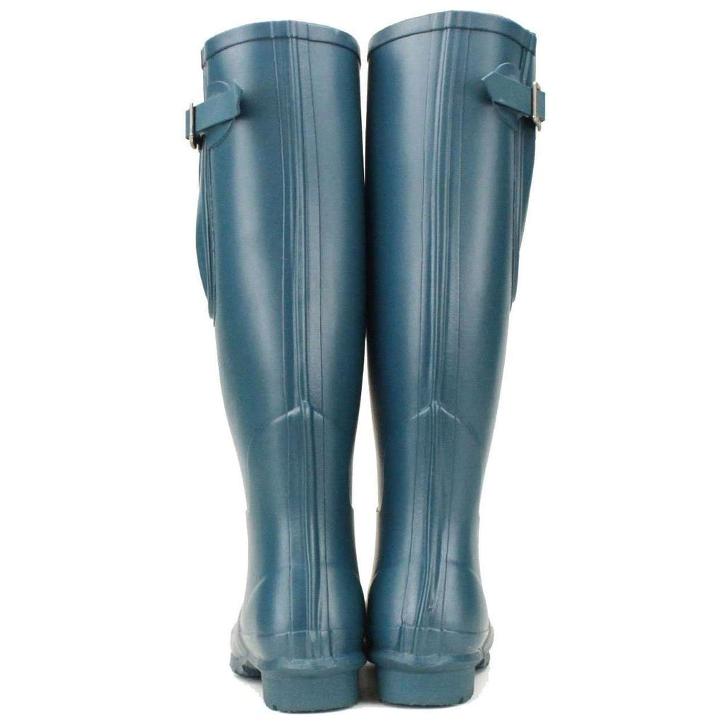 Rockfish Ladies Wellies, Teal coloured boots, adjustable wide fit boots.