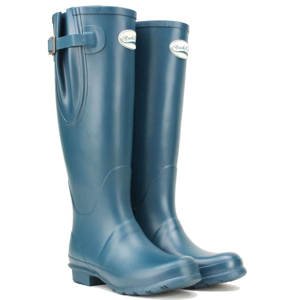 Teal wide fit ladies wellies
