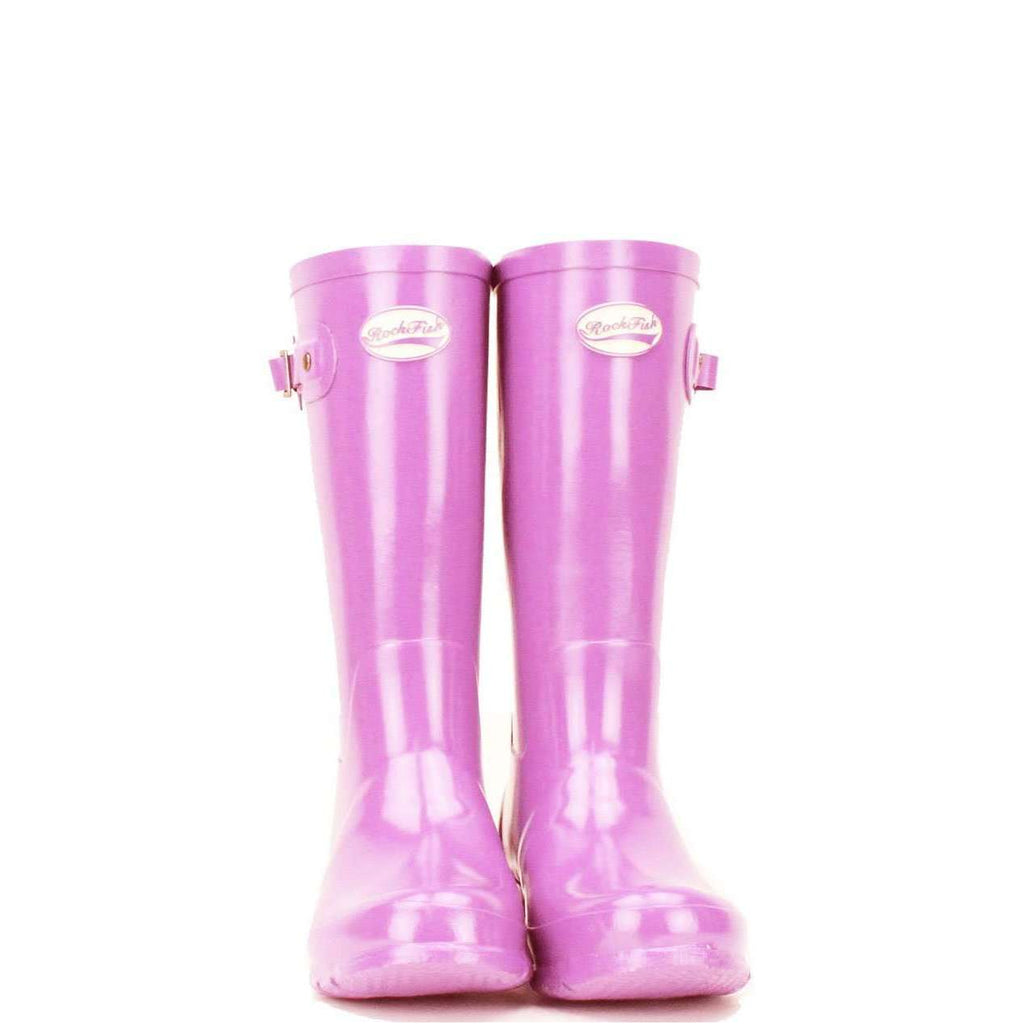 Girls pink wellies from Rockfish, 12 month guarantee